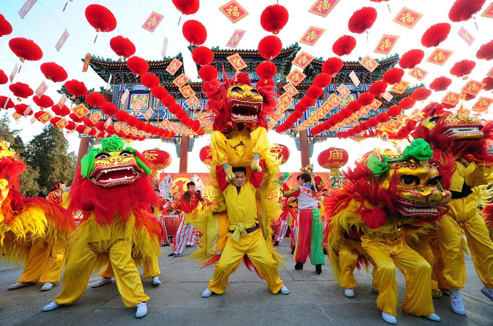 Празднование нового года в китаи